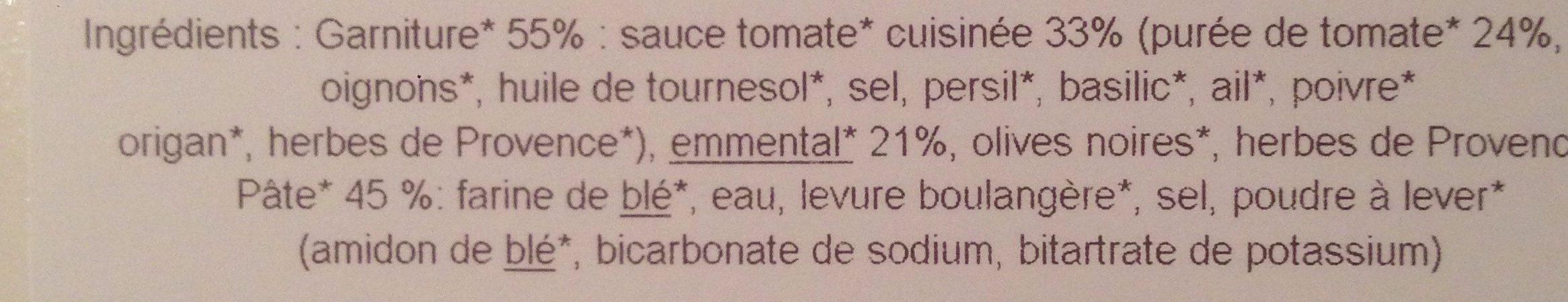 Pizza Marguerita Bio - Ingredients
