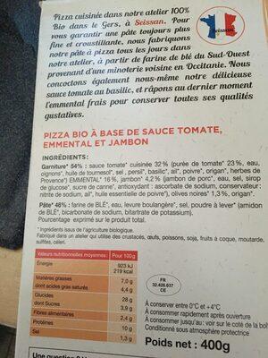 Pizza Jambon - Ingredients