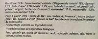 Pizza margherita - Ingredients - fr