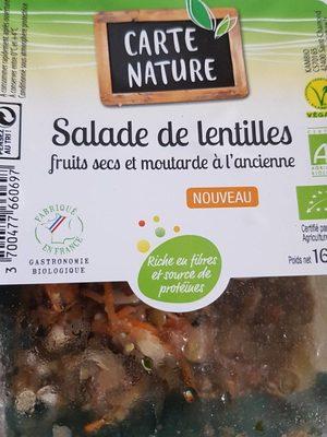 Salade de lentilles fruits secs et moutarde a l'ancienne - Produit