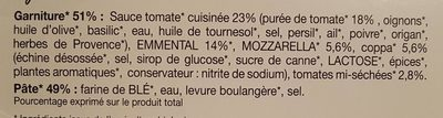 Pizza Italienne - Ingredients
