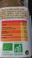 Galette végétale quinoa bourrache - Voedigswaarden