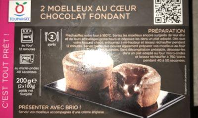 Toupargel Moelleux au Cœur Chocolat Fondant 2 x 100 g Surgelé - Product