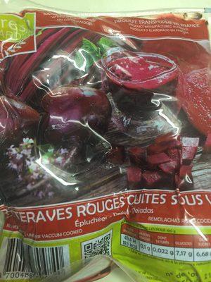 Betteraves rouges cuites sous vide - Ingredienti - fr