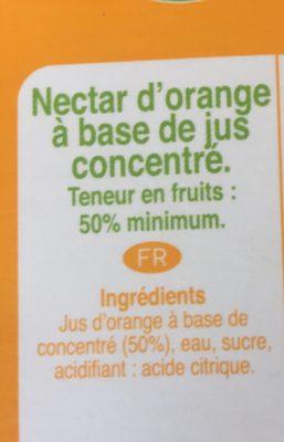 Orange nectar - Ingrediënten