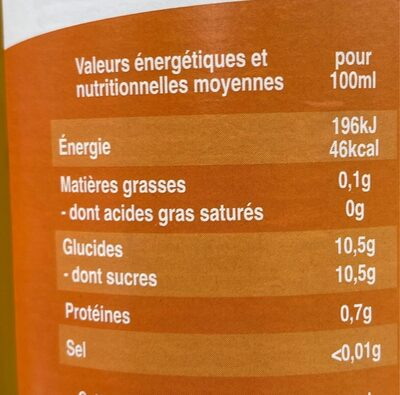 Mangue - Voedingswaarden - fr