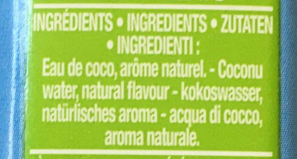 Oh Coco - Ingrédients