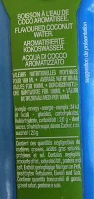 Oh Coco - Informations nutritionnelles