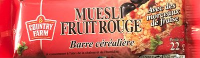Barre muesli fruit rouge - Product
