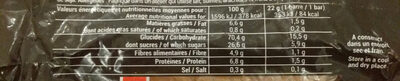 Barre muesli fruit rouge - Voedingswaarden - fr