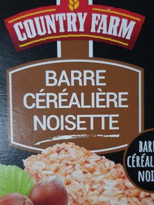 Barre céréalière noisette - Product