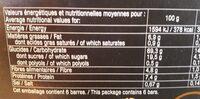 Barre céréalière noisette - Voedigswaarden