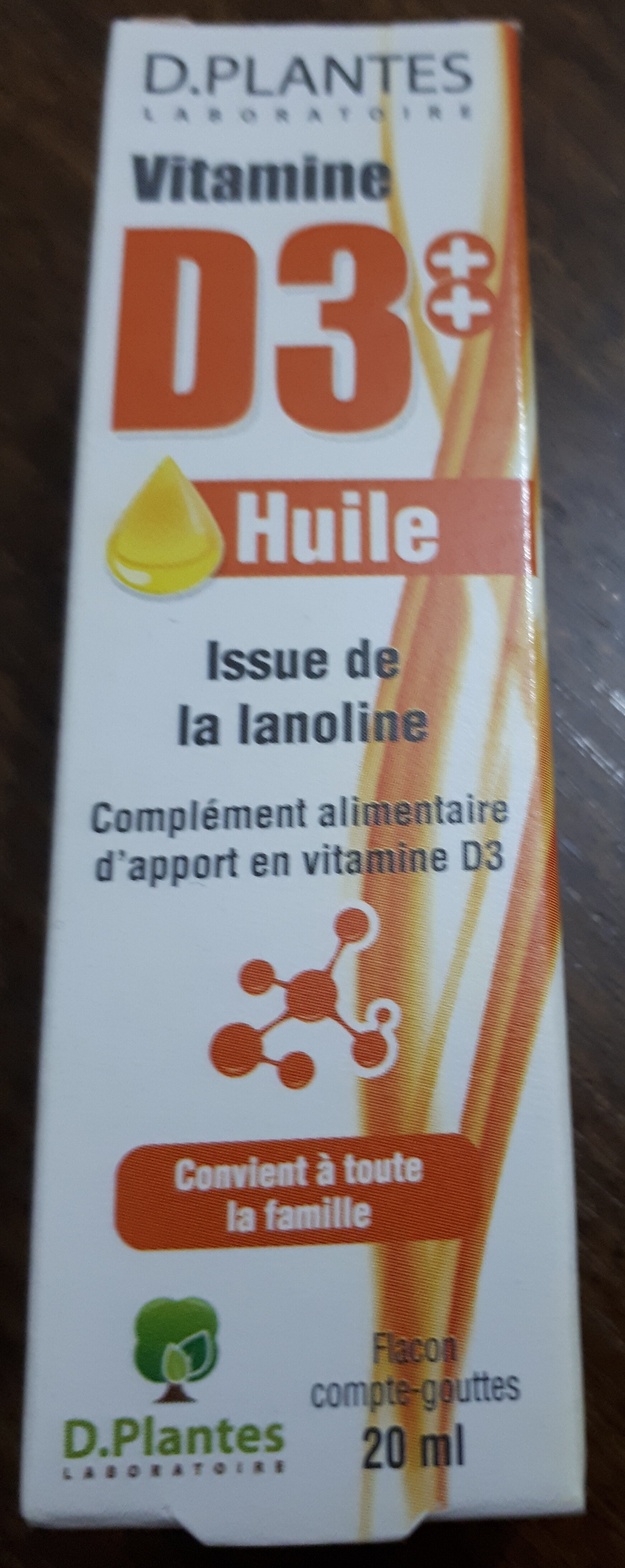 Vitamine D3++ Huile - Produit - fr