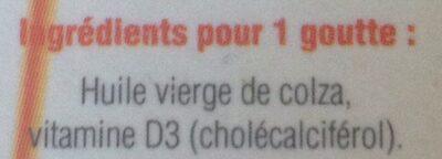 Vitamine D3++ Huile - Ingrédients