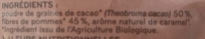 Cacao Superfood en biogranules - Ingrédients