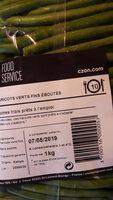 haricot vert frais éboutés - Produit