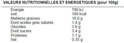 Chou rouge assaisonné - Valori nutrizionali - fr