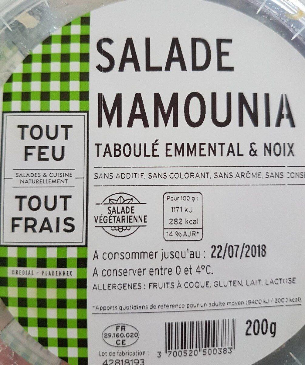 Salade mamounia - Valori nutrizionali - fr