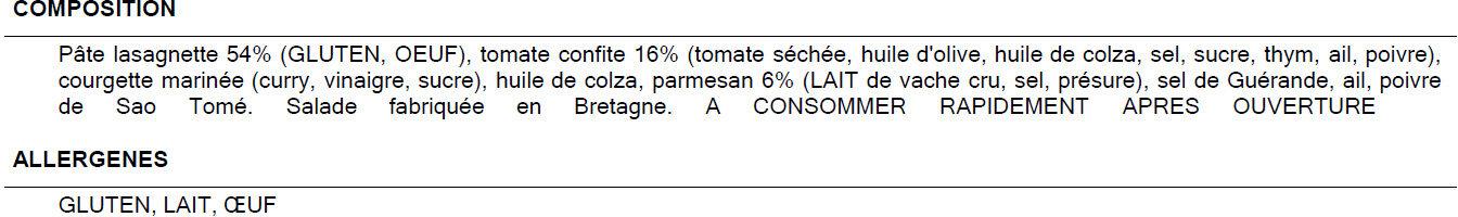 Salade à la parmesane - Ingredienti - fr
