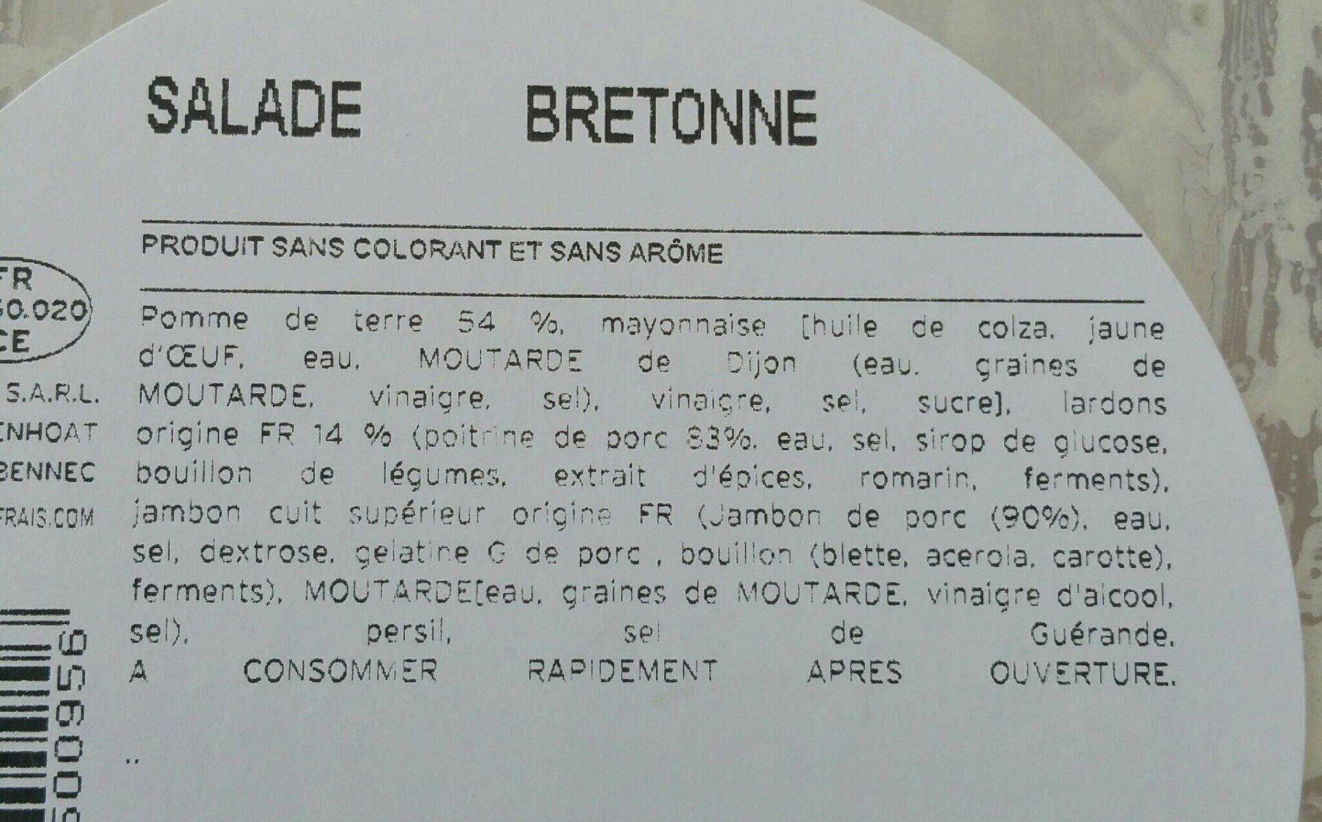 Salade bretonne - Ingrédients - fr