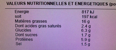 Salade bretonne - Informations nutritionnelles - fr