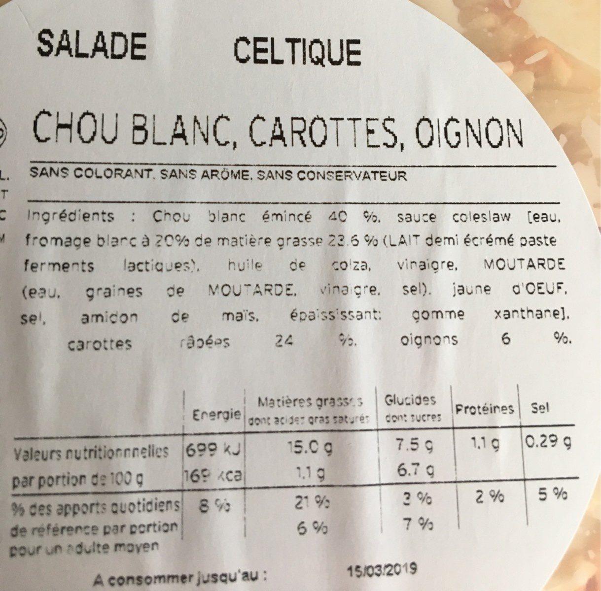 Salade celtique - Ingredienti - fr