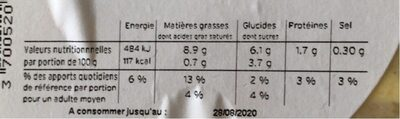 SALADE A L'INDIENNE - Nutrition facts - fr