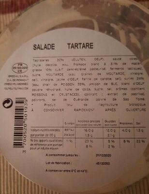 Salade tartare - Valori nutrizionali - fr