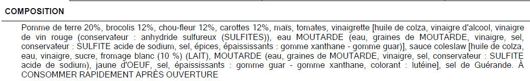 Salade à la léonarde - Ingredienti - fr