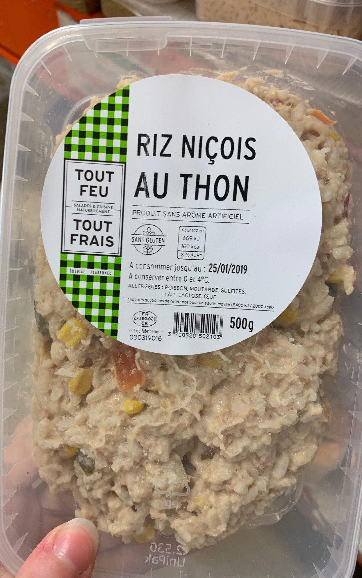 Riz niçois au thon - Product - fr