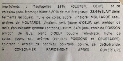 Salade tartare - Ingredienti - fr