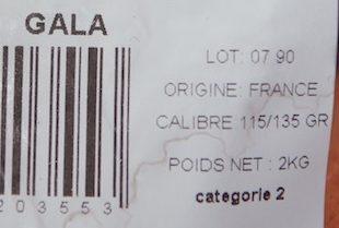 Pommes Gala - Ingrédients