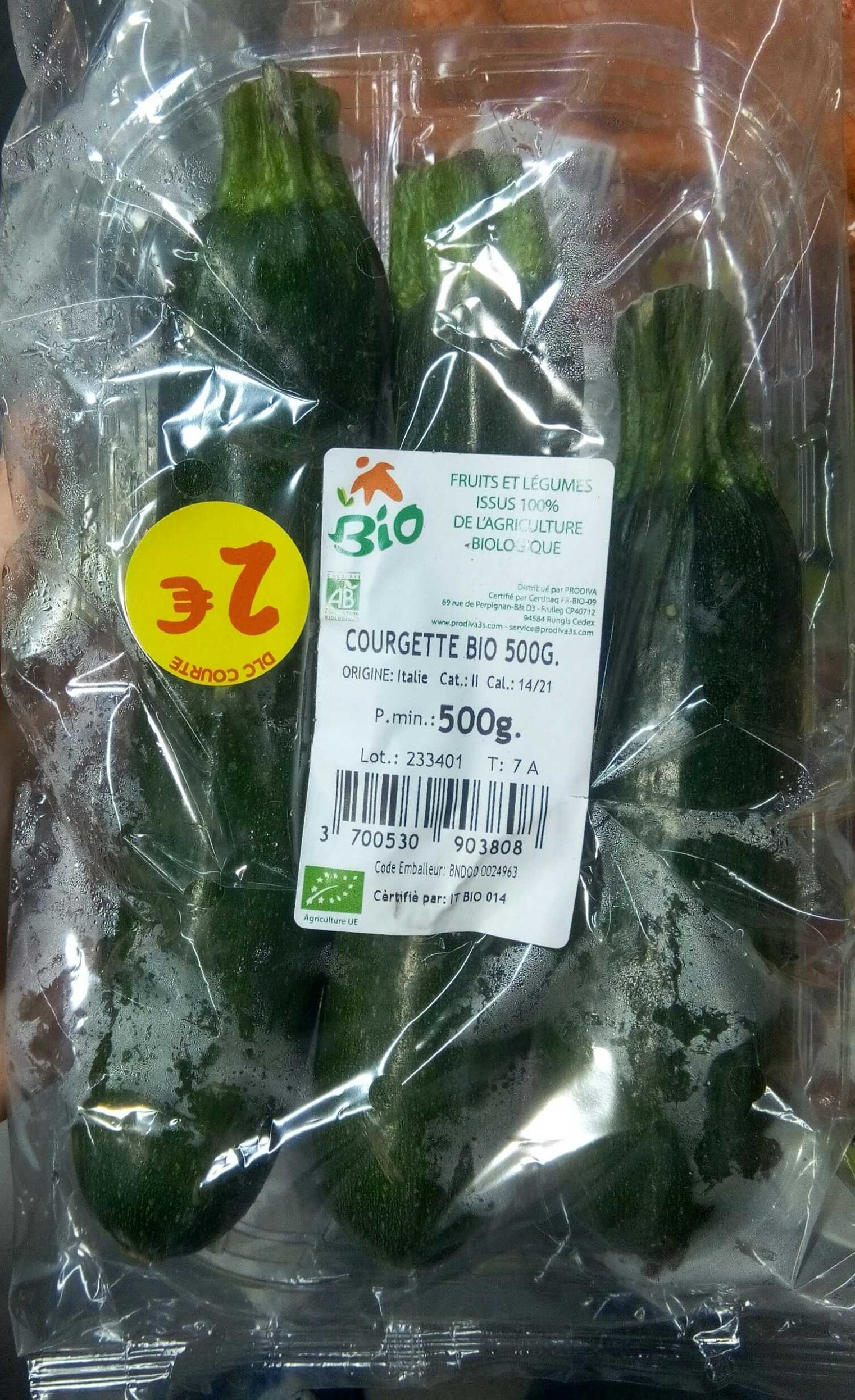 Courgettes bio - Product