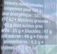 Sucette au chocolat - Informations nutritionnelles - fr