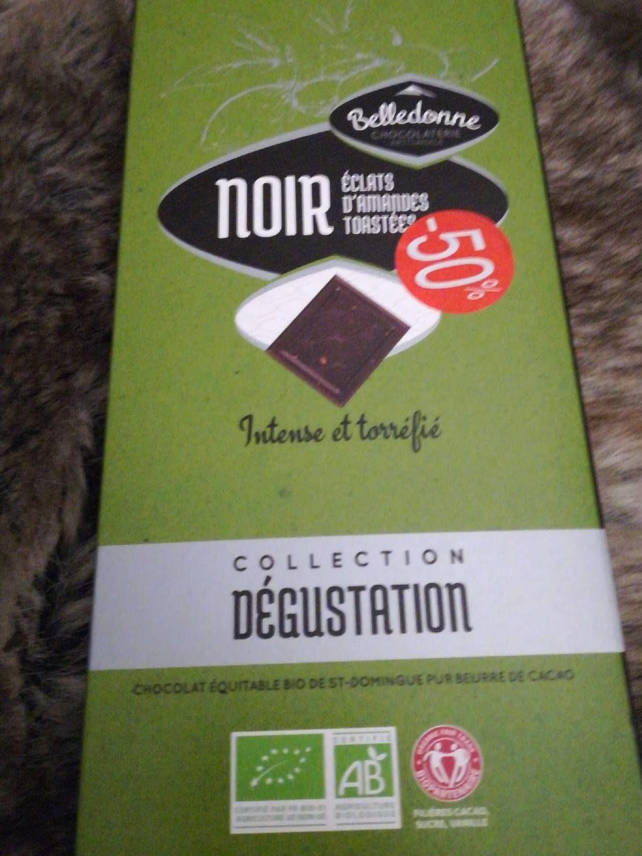 Chocolat noir éclats d'amandes - Product