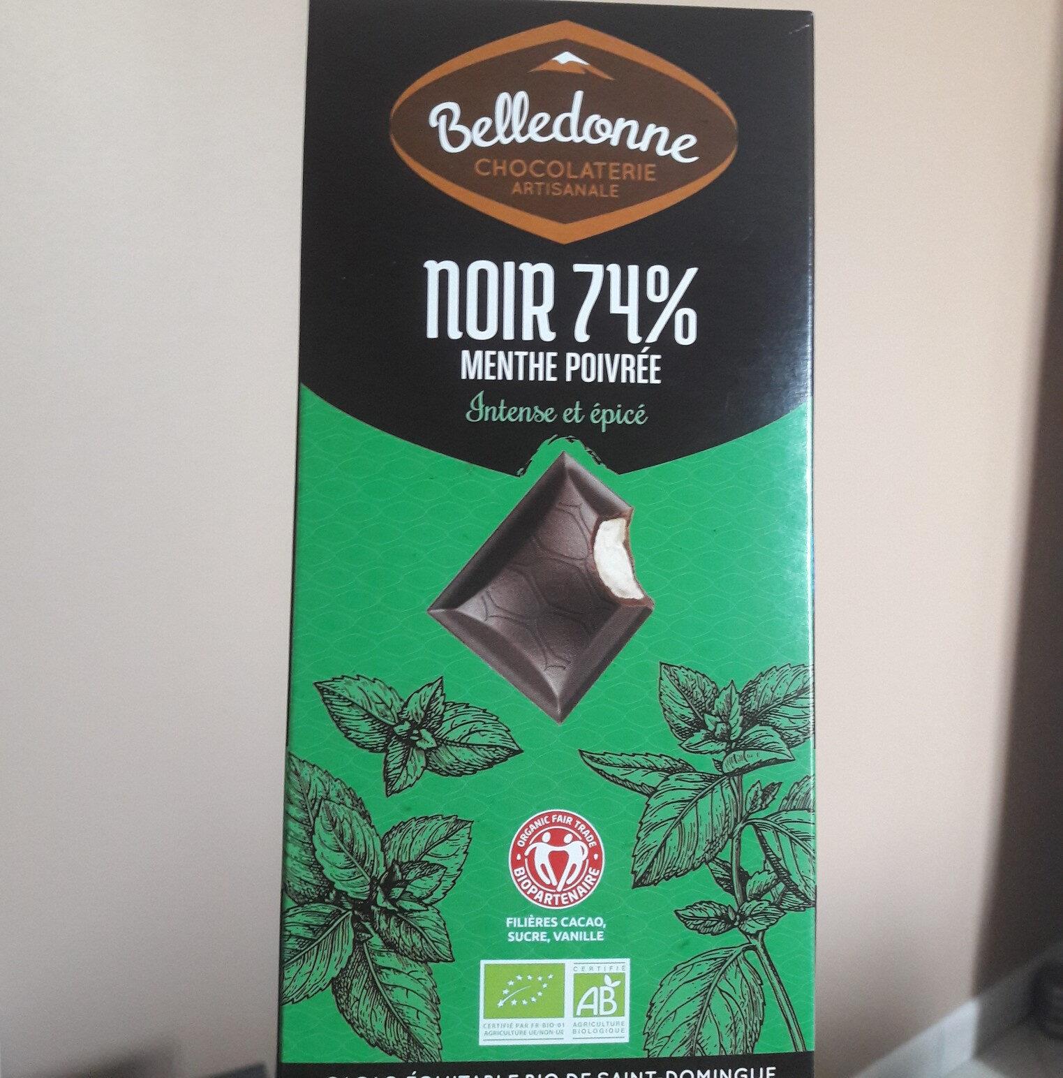 Chocolat noir menthe poivrée - Informations nutritionnelles