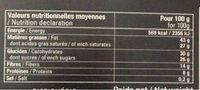 ST-DOMINGUE noir 74% - Informations nutritionnelles - fr
