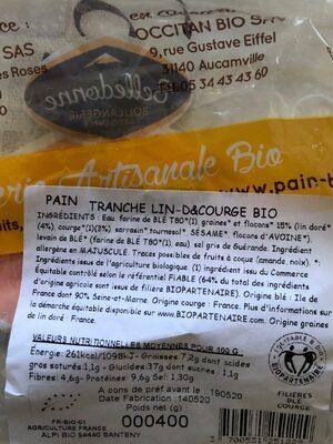 PAIN DEMI COMPLET T80 LIN ET COURGE - Voedingswaarden - fr