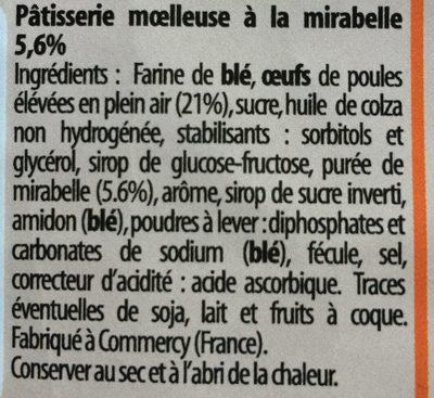 Mirabelles - Ingrédients