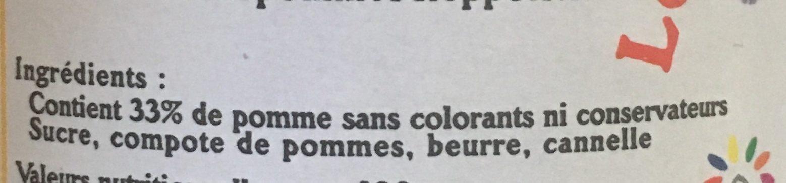 Le caramel de pommes dieppois Cannelle - Ingrediënten - fr