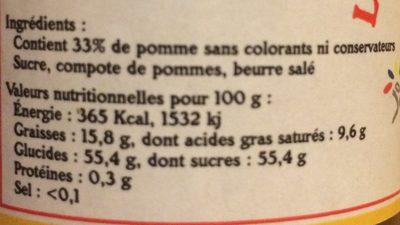 Le caramel de pommes dieppois - Ingrédients - fr