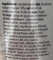 Minceur D - Milk-shake Cacao - Substitut De Repas Minceurd - Ingrédients - fr