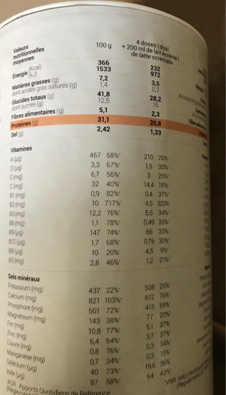 Purée De Pommes De Terre Nature - Informations nutritionnelles - fr