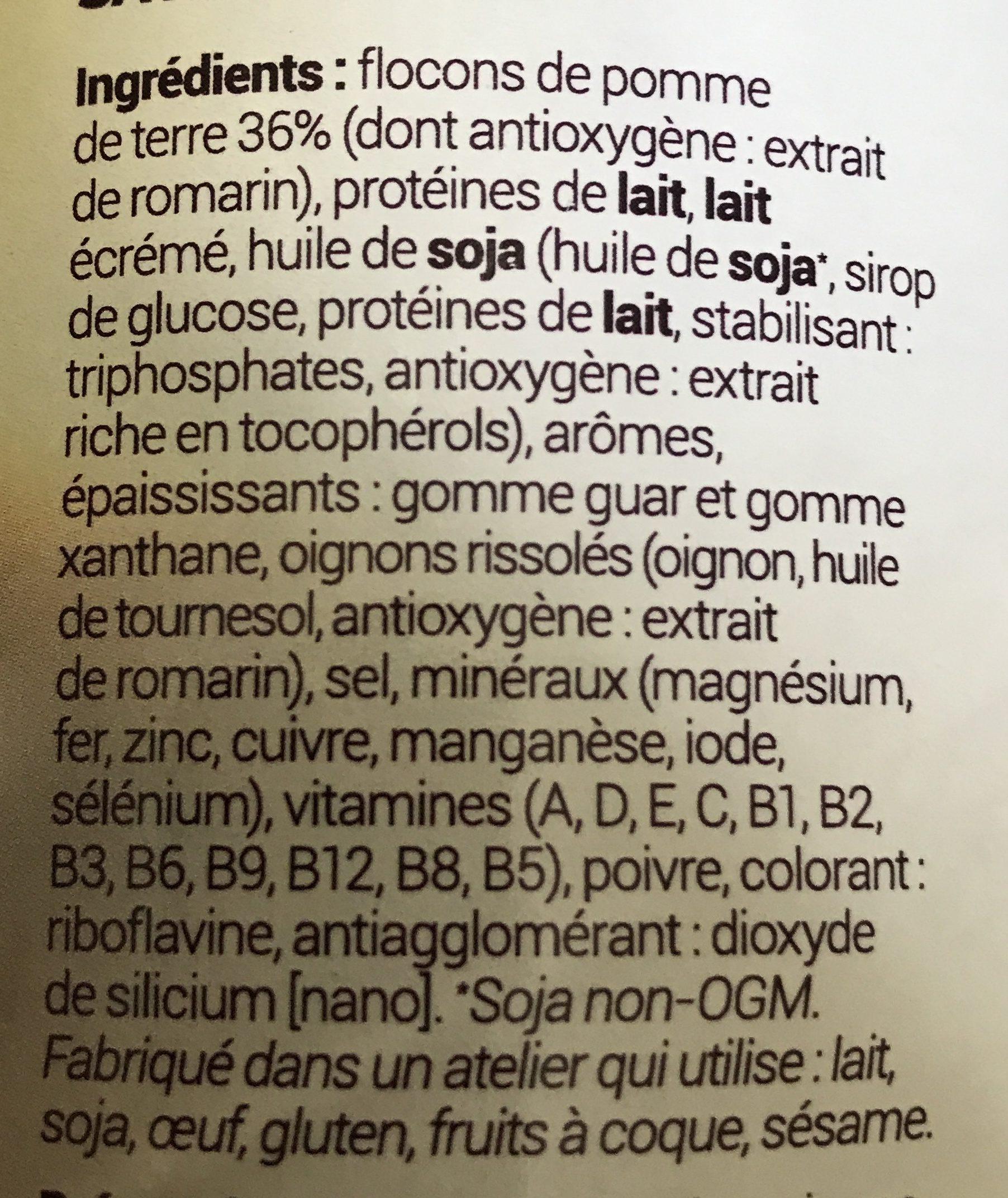 Purée De Pommes De Terre Poulet - Ingrédients - fr