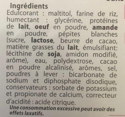 Brownie Choco Pépites Chocolat Blanc Sans Gluten - Ingrédients - fr