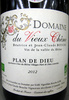 Côtes du Rhône Villages Plan de Dieu AOC 2012 Bio Domaine du Vieux Chêne - Producto