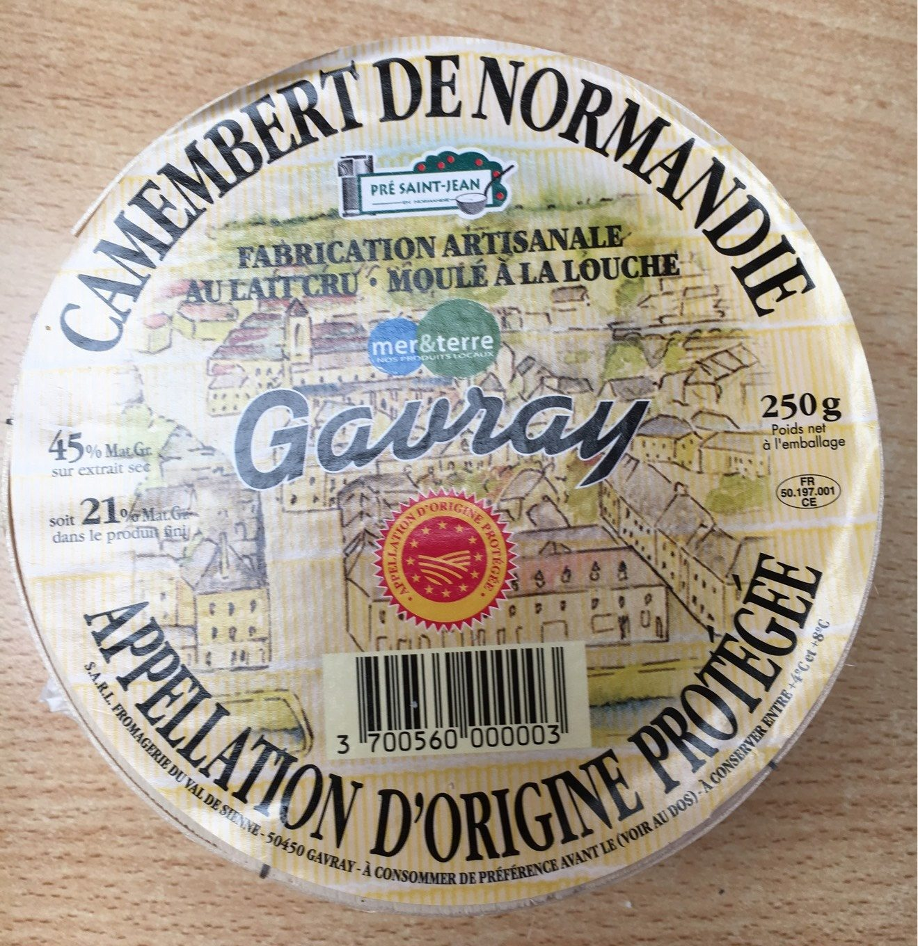 Camembert de Normandie Gavray - Product - fr
