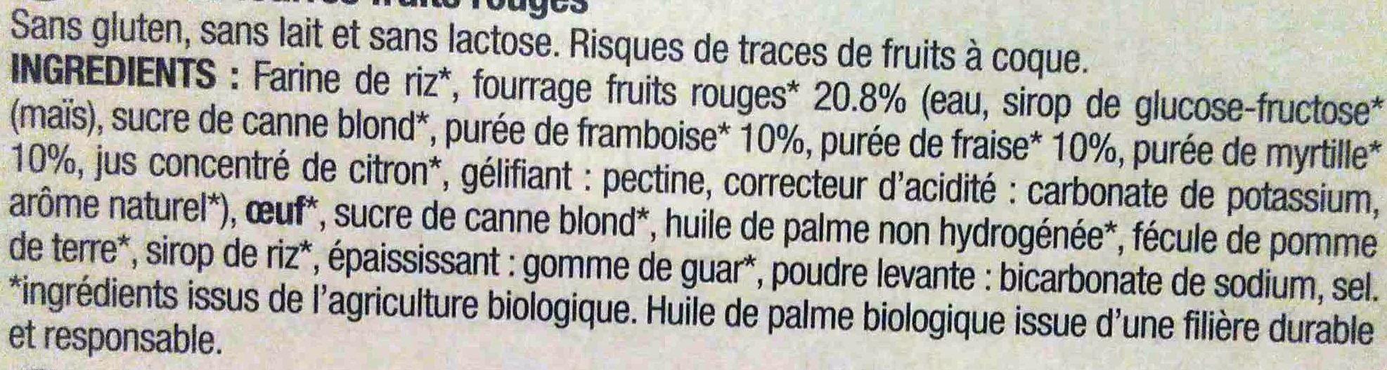 Biscuits Fourrés Fruits Rouges - Ingrédients - fr