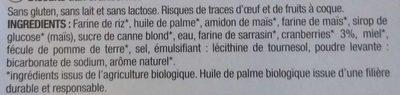 Biscuits cranberries - Ingrédients - fr