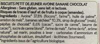 biscuit avoine banane chocolat - Ingrediënten